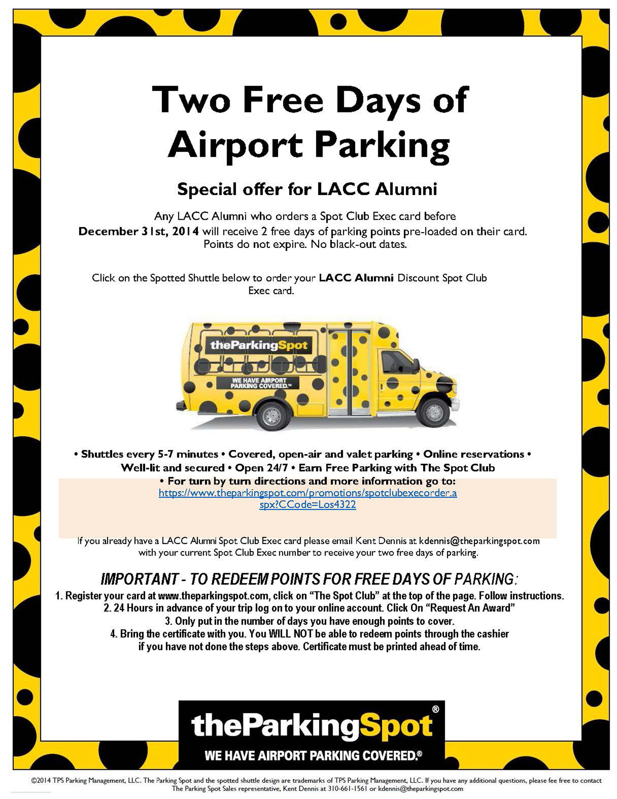 LACC Alumni Two-Day Parking Deal | Los Angeles City College Foundation
