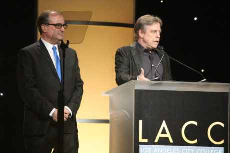 "LACC Alum Mark Hamill expressed to the audience how proud he has always been to have LACC in his academic curriculum. ""I've spoken at Oxford and Cambridge, and I always make a point of name-checking LACC"" he said to applause."